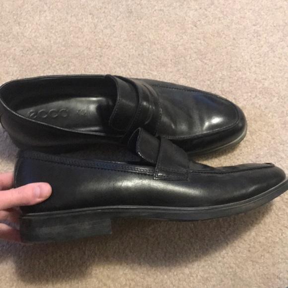 Black Ecco shoes size 10
